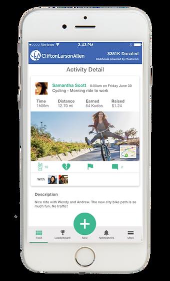 Plus3 Wellbeing Mobile App Screenshot
