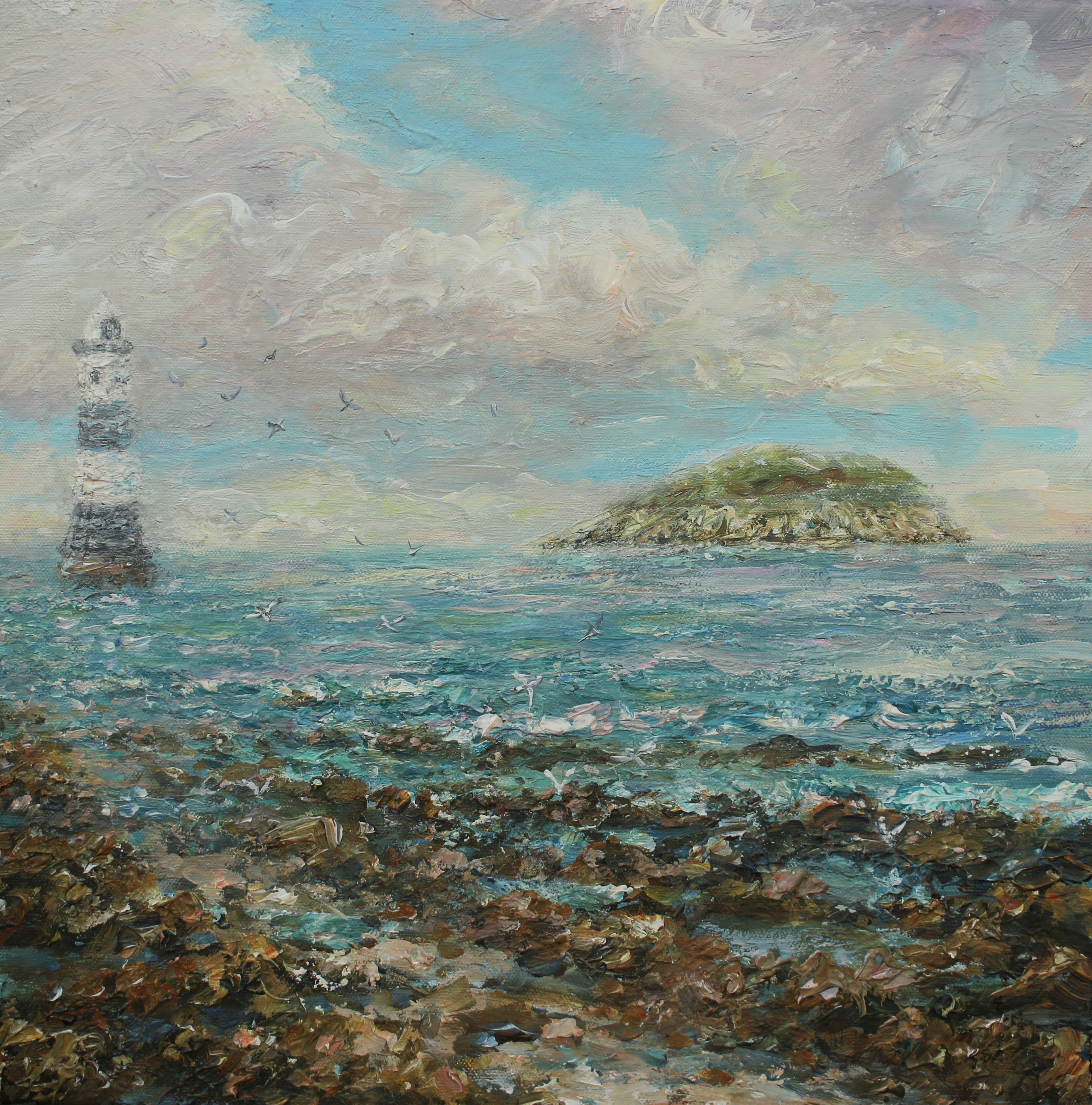 Penmon lighthouse and Puffin island 40x4