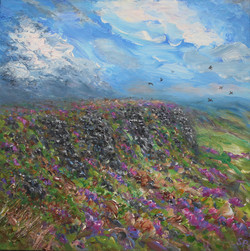 Coombes Edge with crows and heather