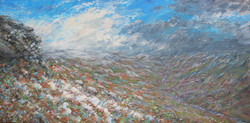 A scattering of snow 110x60cm