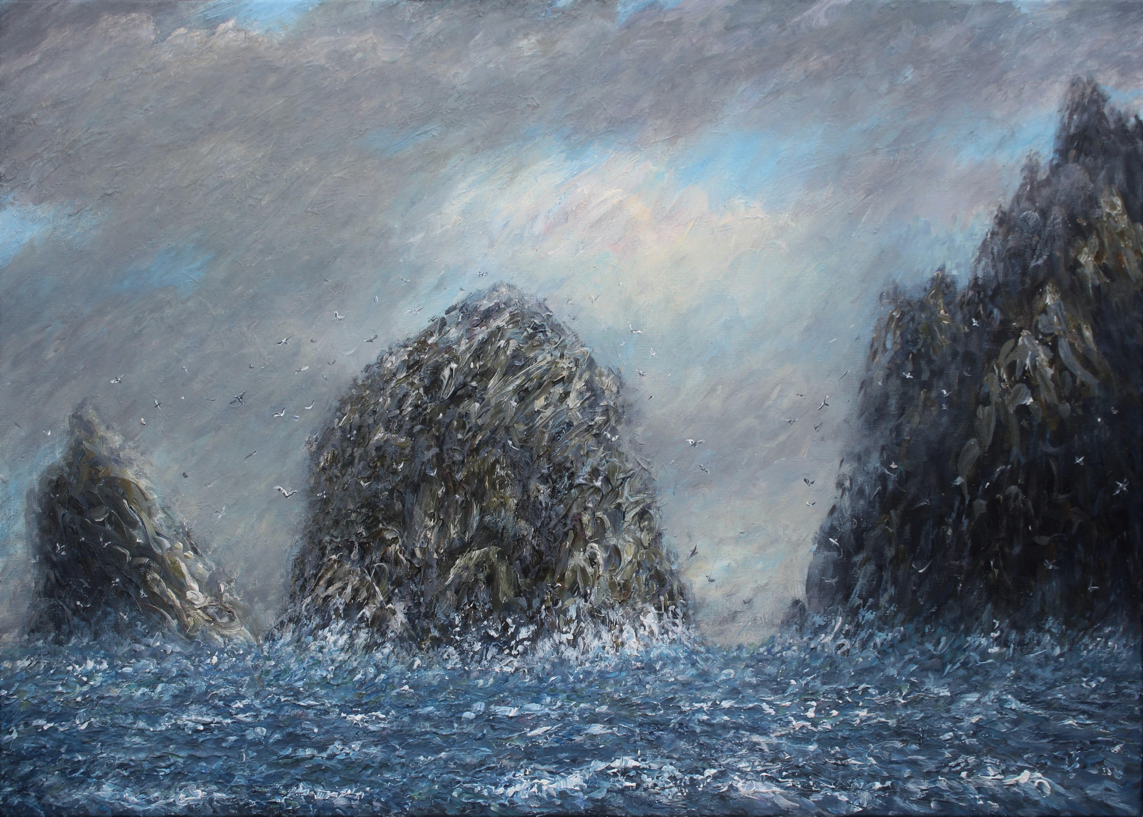 Sea Stacks St Kilda 50x70 cm (3)