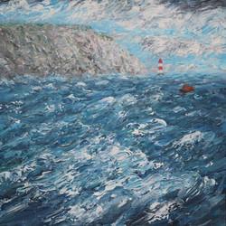 Birling Gap with choppy waves