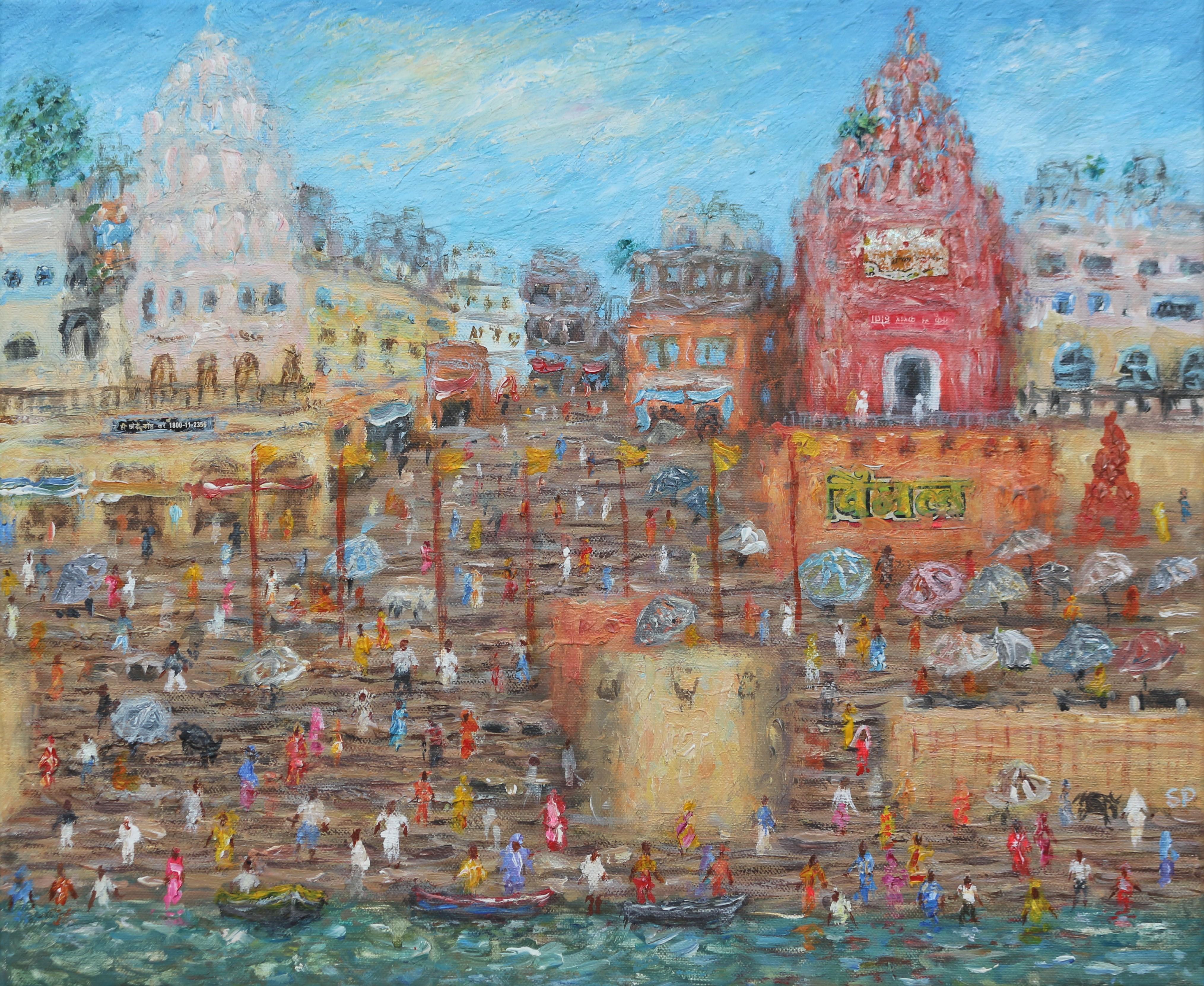 Varanasi red temple