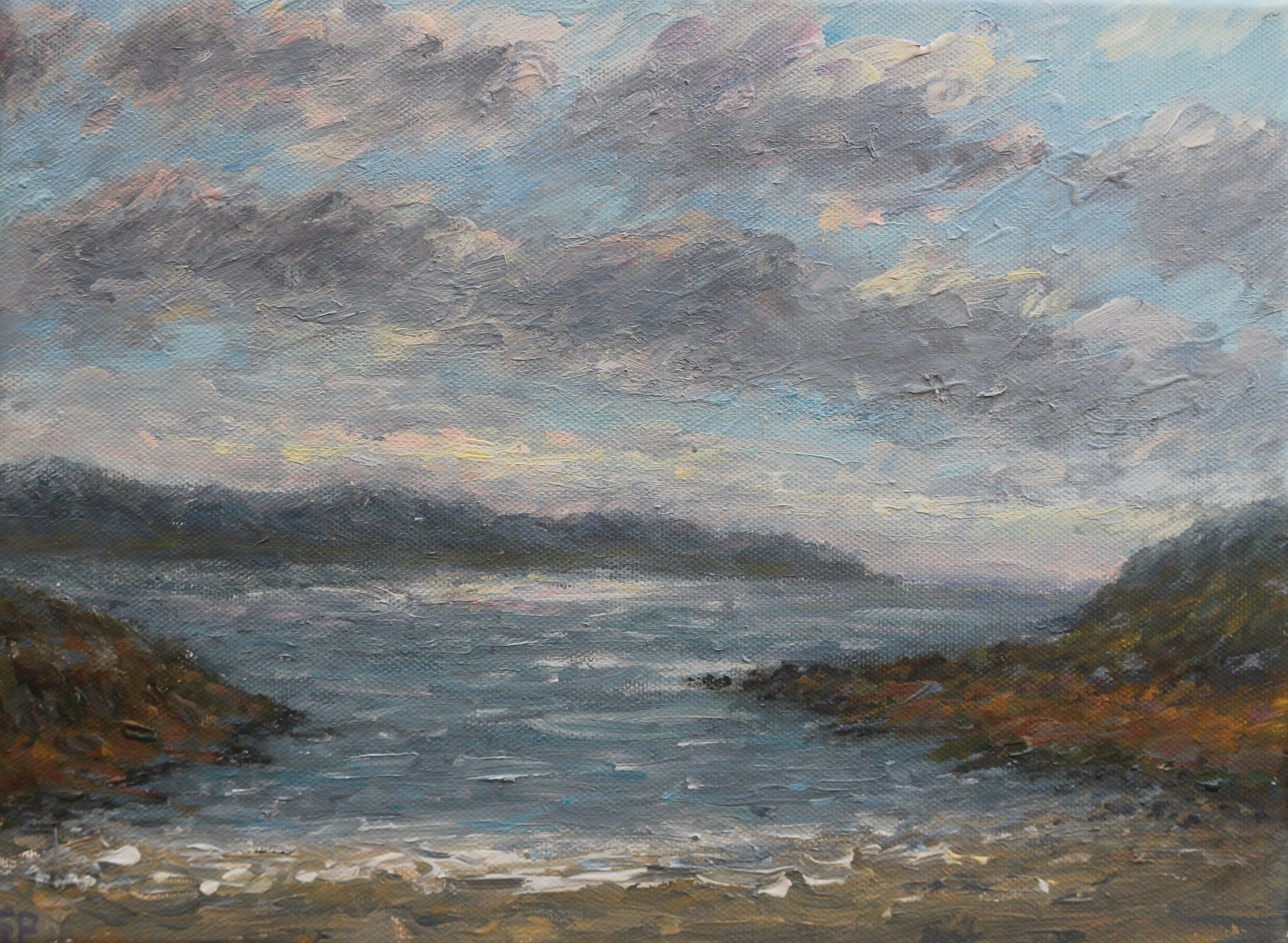 Across the bay at Ardamurchen 23x32 cm