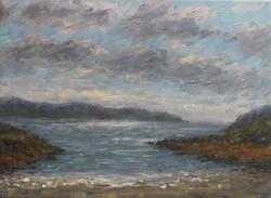 Across the bay at Ardamurchen 23x32 cm