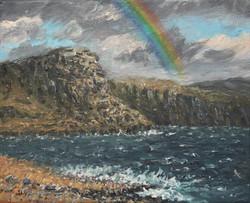 Rainbow over Waterstein Head