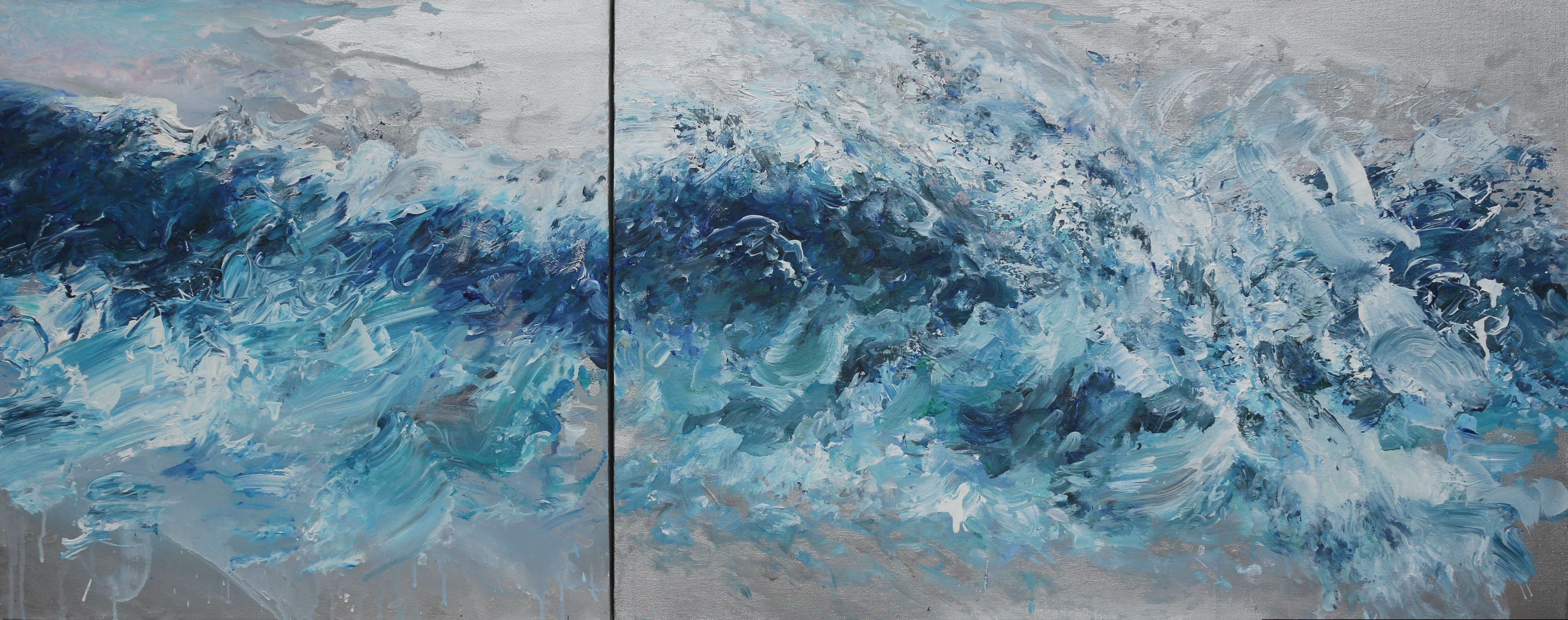 On the crest of a wave  150 x60cm