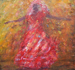 Red dancer bringing life