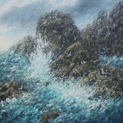 Ocean Surge 50x50cm
