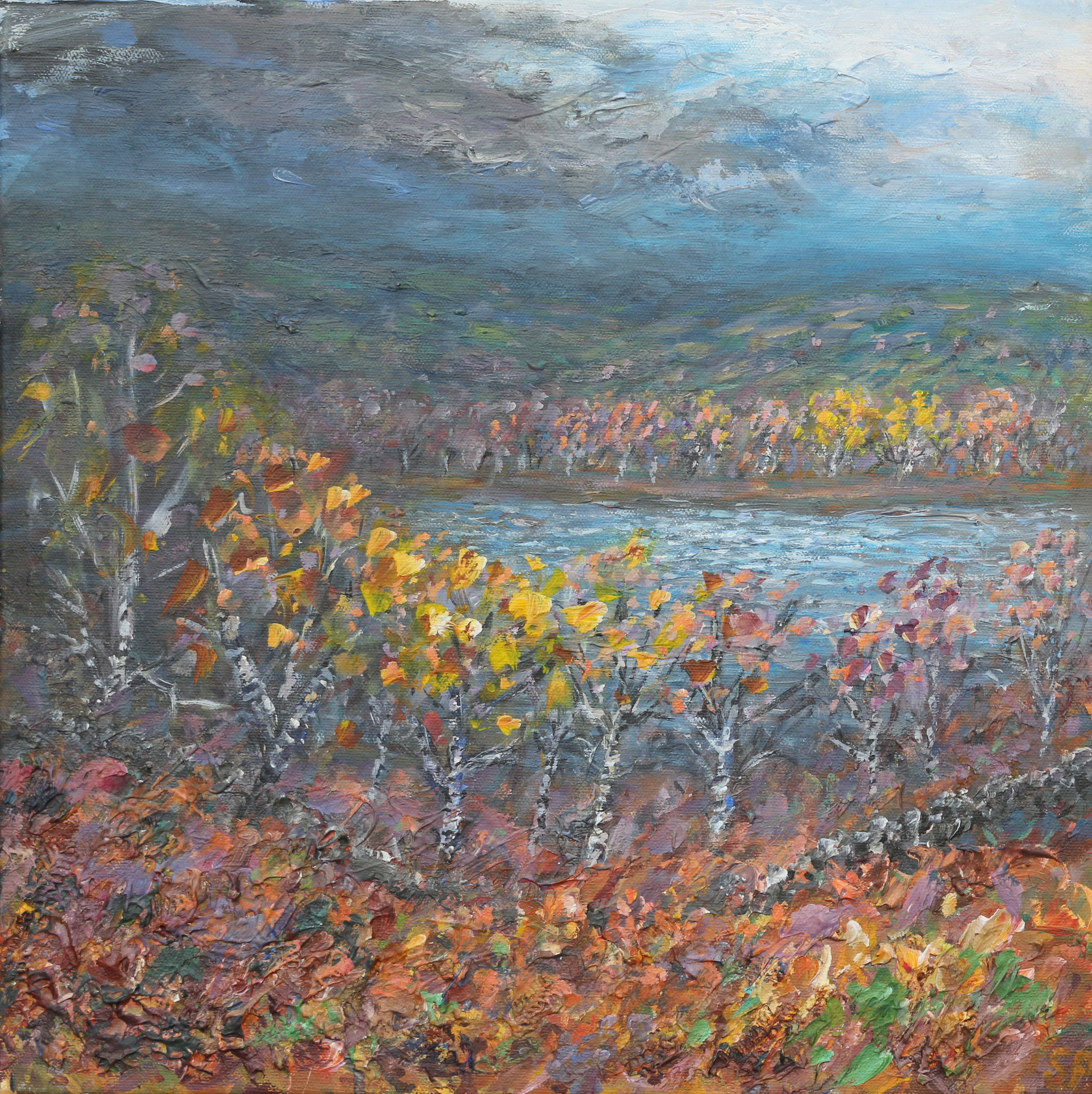 Autumn at Torside 60x60cm SOLD