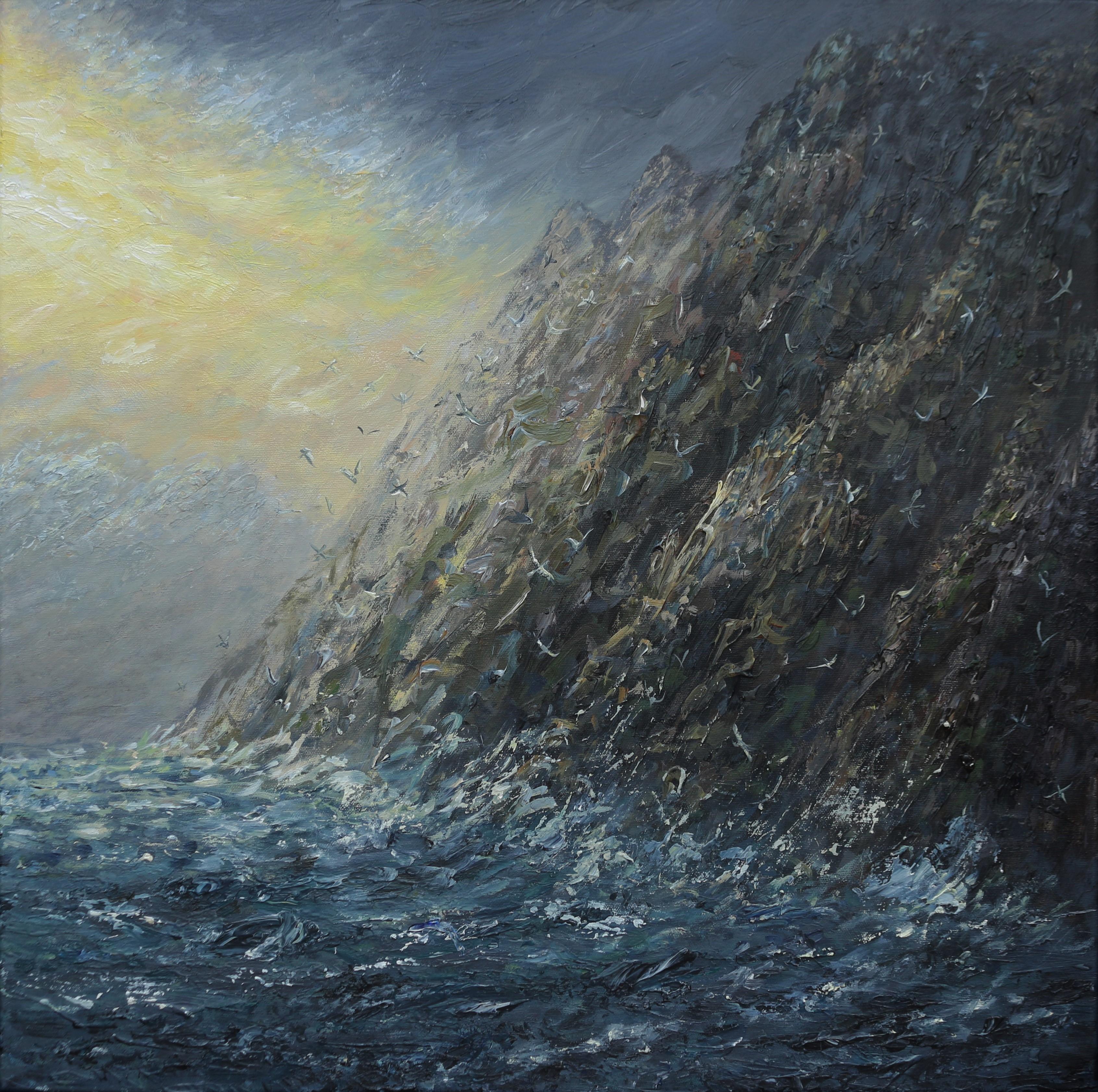 light breaking through at St Kilda 60x60