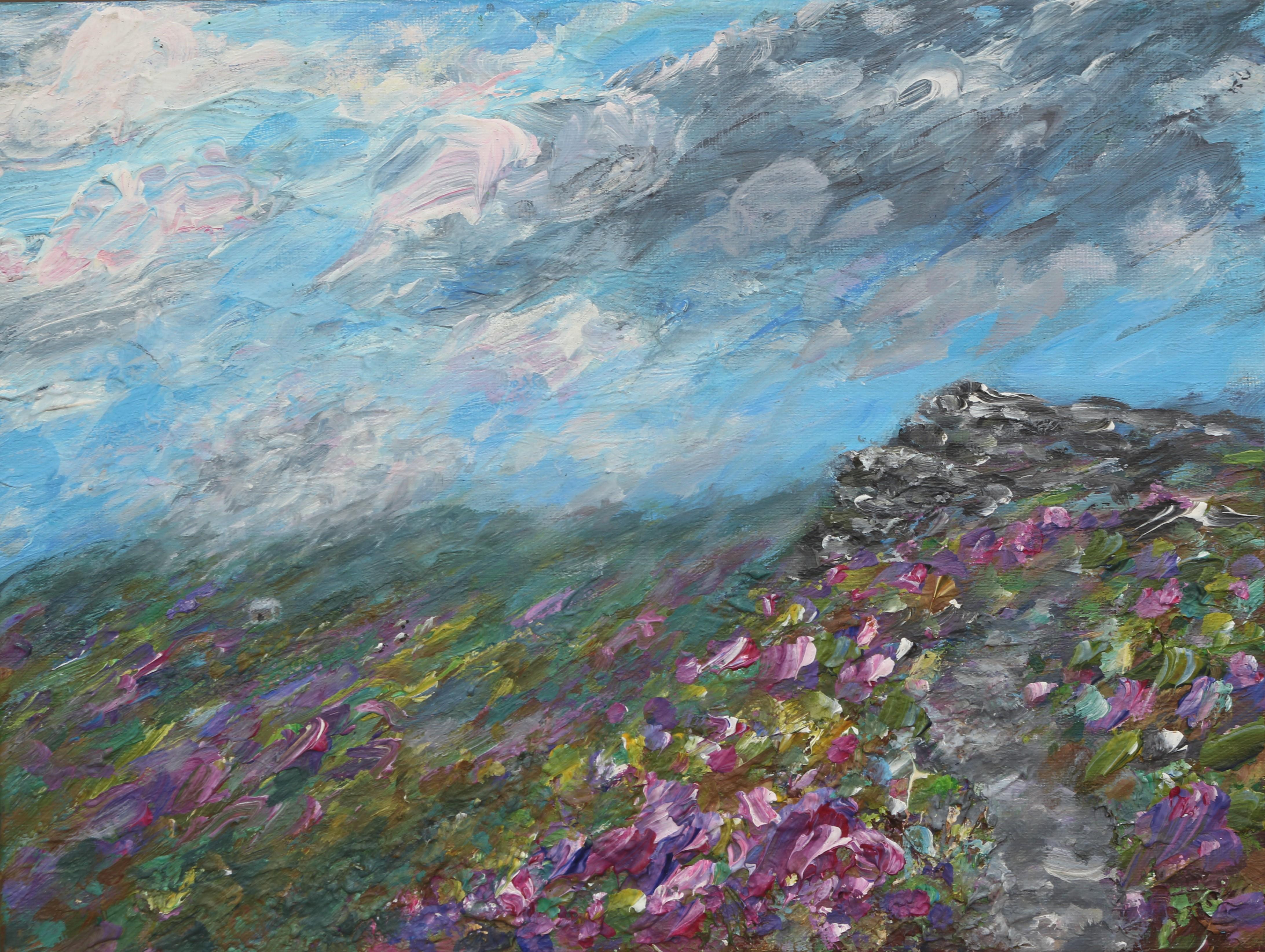 Path to Wormstones , heather 30x40cm