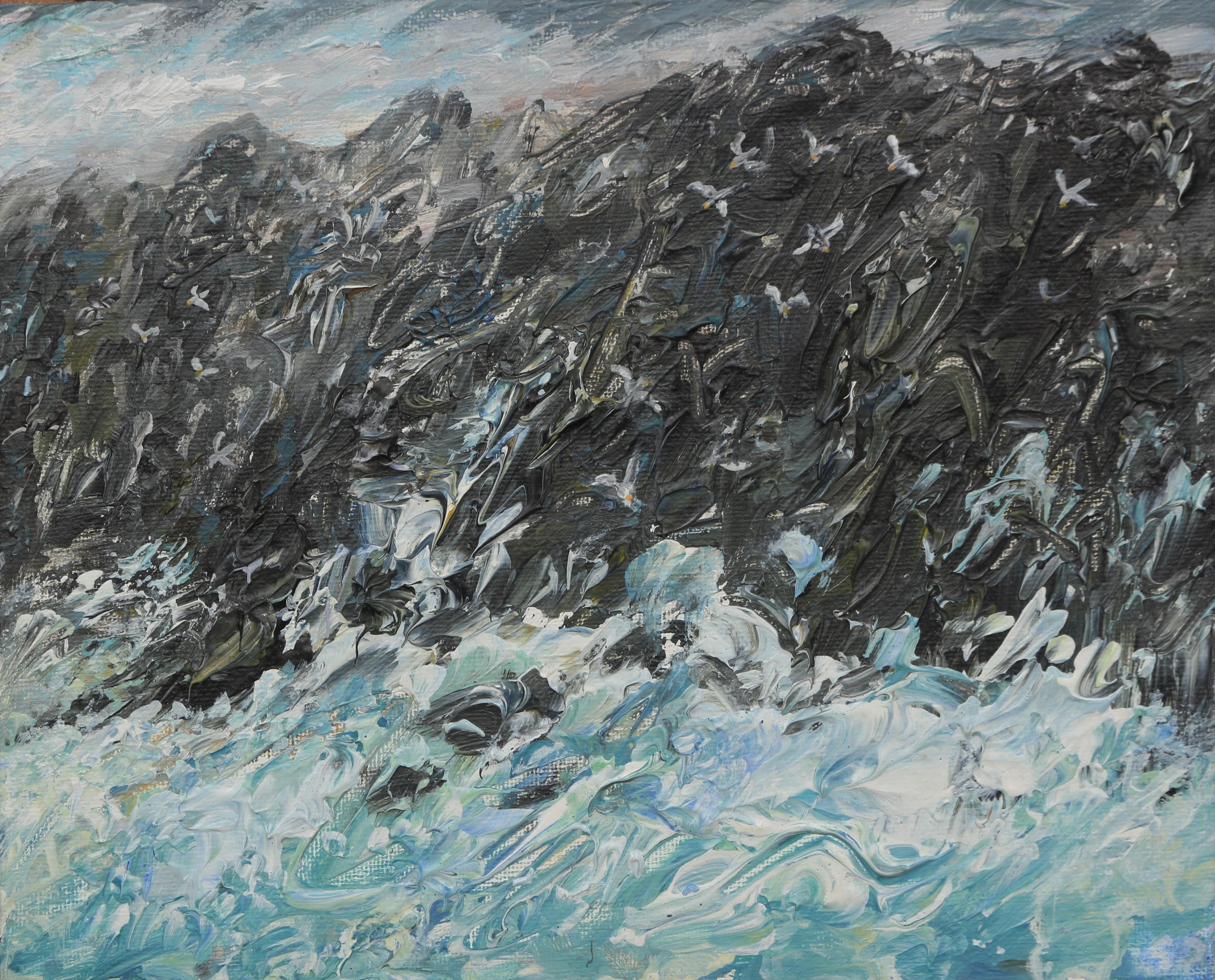 Sea Cliffs 20x25cm