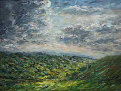 Light in the valley 24 x 32 cm