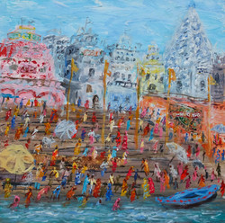 Very nicely in Varanasi