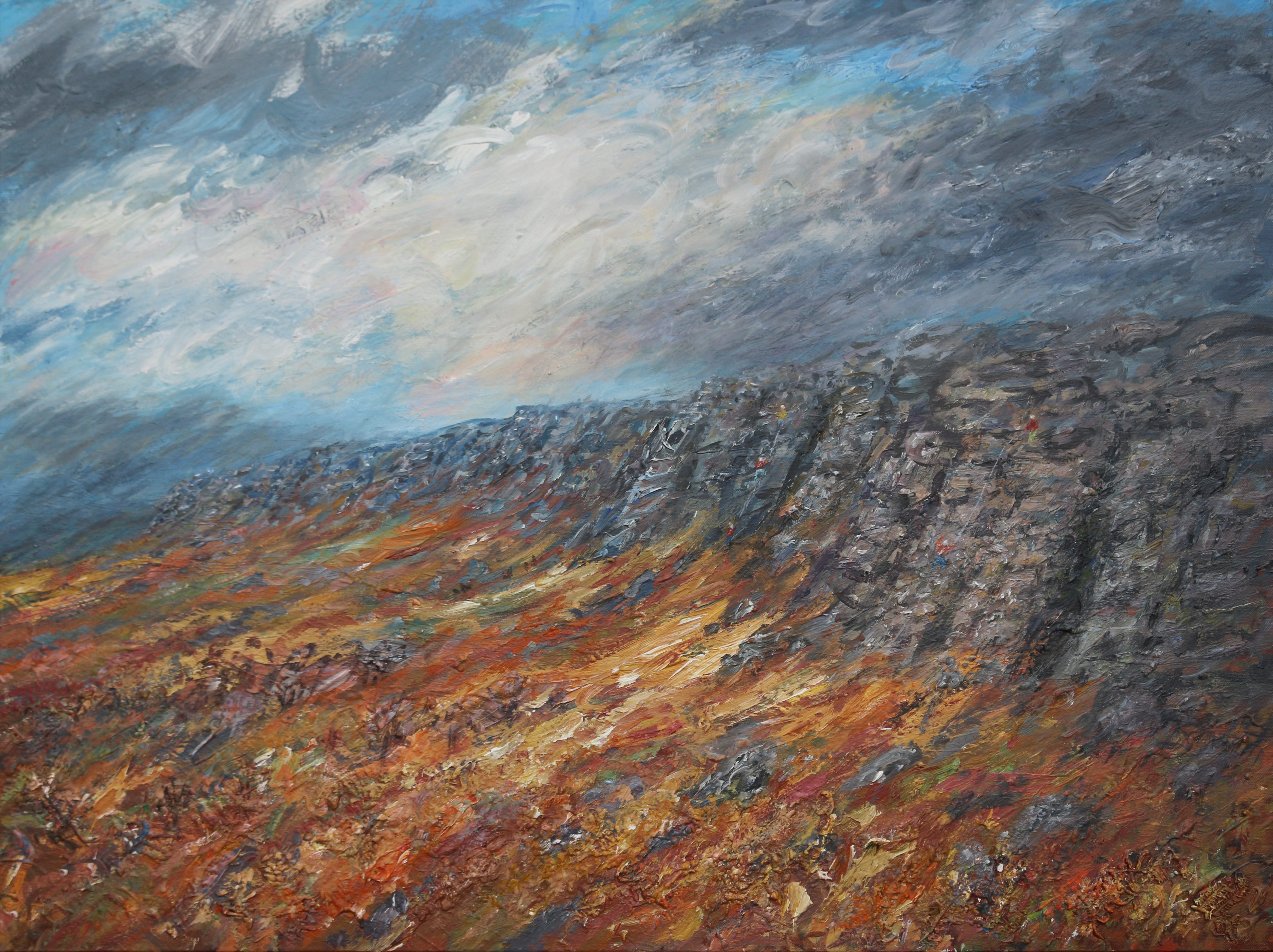 Stanage Edge  Climbers 80 x100cmSOLD