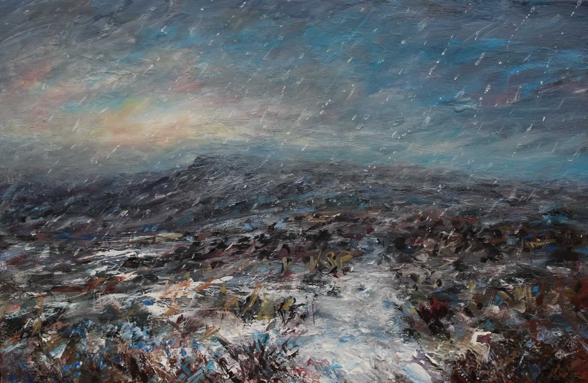 Snowy path to Shelf Stones