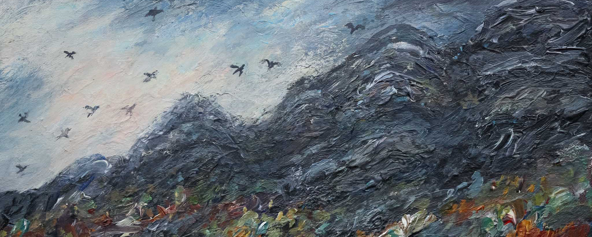 Crows over the edgeMixed media 50x60cm.jpg
