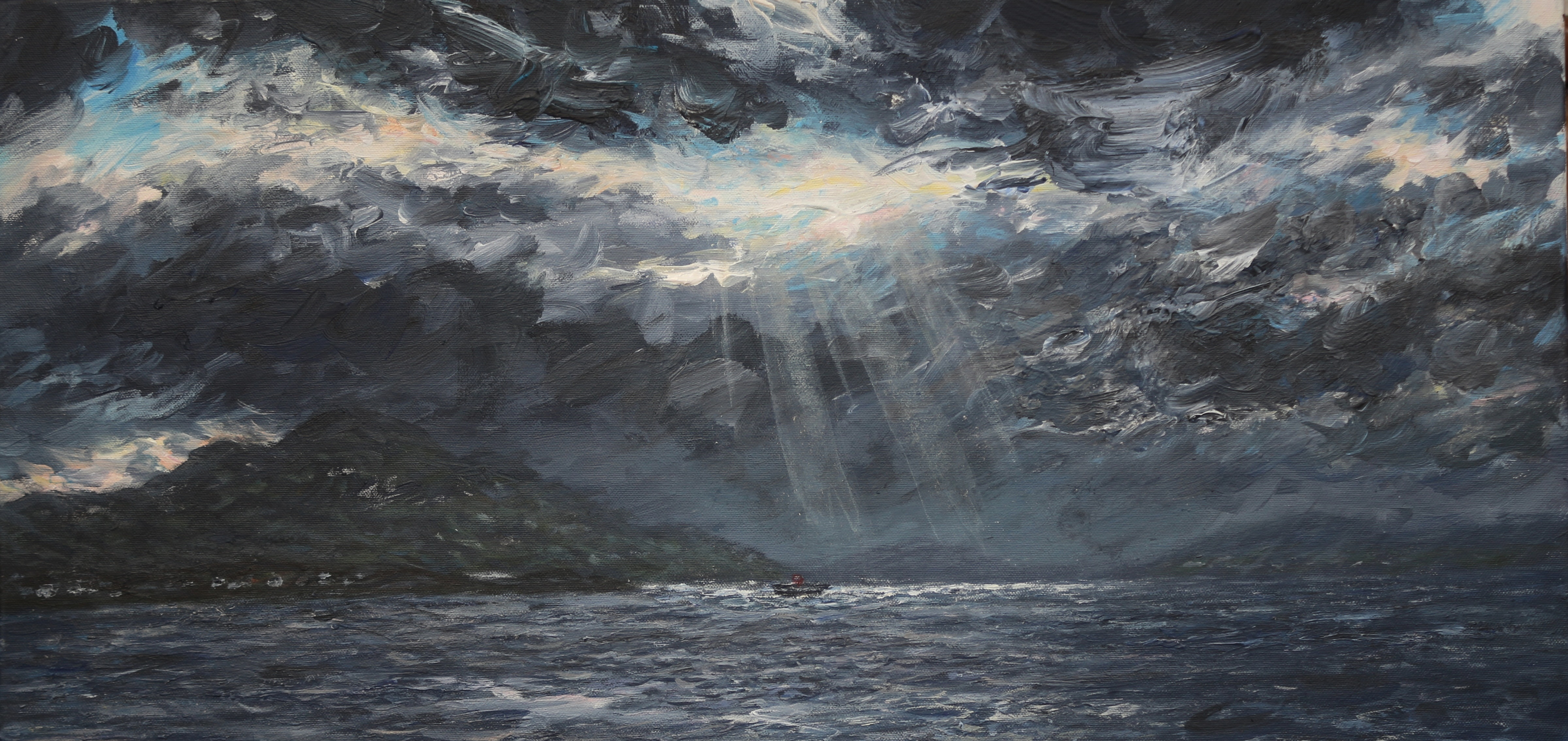 Towards Mull with passageways to heaven  60x70cm - Copy (2)