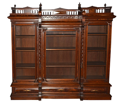 """Triple Door Bookcase 71""""w x 67""""h"""