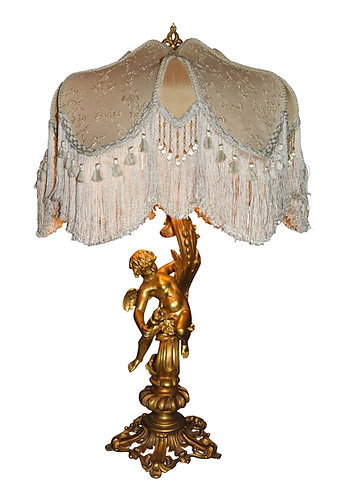 Gilt Bronze Cherub Table Lamp