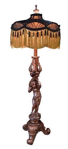 "Figural Cherub Floor Lamp 72""h"