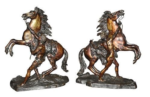 "Bronze Marley Horses 21""h"
