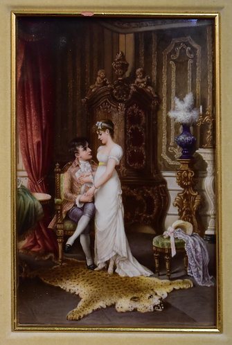 "Porcelain Plaque 6""w x 9""h ( on Cover of Brochure)"