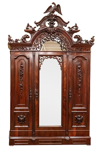 Very Rare, Rosewood Armoire w/ Eagle by Mitchell & Rammelsberg