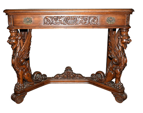 "Carved Griffin Console 30""h x 40""w"
