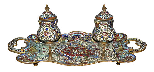 Enameled Cloisonne Ink Well