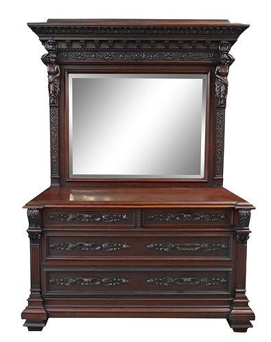 "Mahogany Dresser 83""h x 56""w"