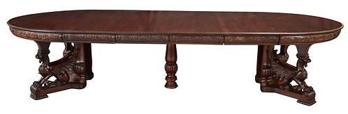 "R.J. Horner Dining Table w/ Skirted Leaves 60""w x 132""L"
