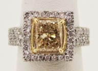 1.56 ct Fancy Yellow Diamond Ring