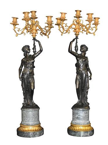 """36""""h x 13""""w  Bronze Candelabras"""