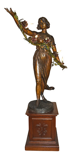 """Life Size Lady Statue Lamp 60""""h"""