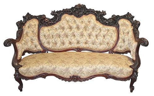 Rare, Mahogany Karpen Sofa w/ Cherubs