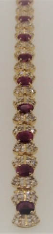 11.44 cts of Rubies, and 6.24 cts of Diamonds Bracelet