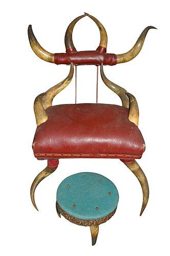 c. 1880's Horn Chair