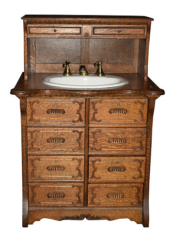 Oak Bathroom Sink