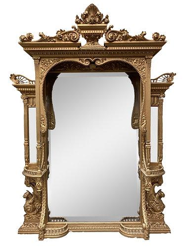"Gold Gilt Mirror 94""h x 66""w"