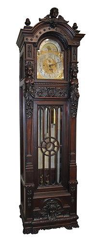 "9-Tube Grandfather Clock 101""h x 26""w"