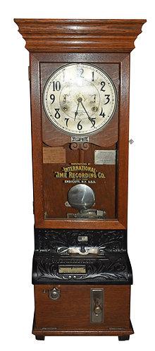 """Oak Time Clock 49""""h"""