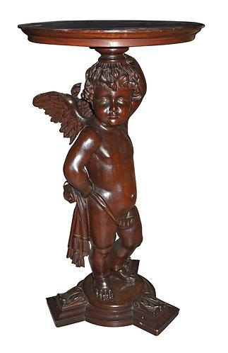 """Mahogany Cherub Pedestal 34""""h"""