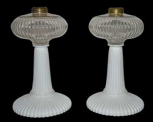 Pair of Onion Shaped Oil Lamp Bottoms