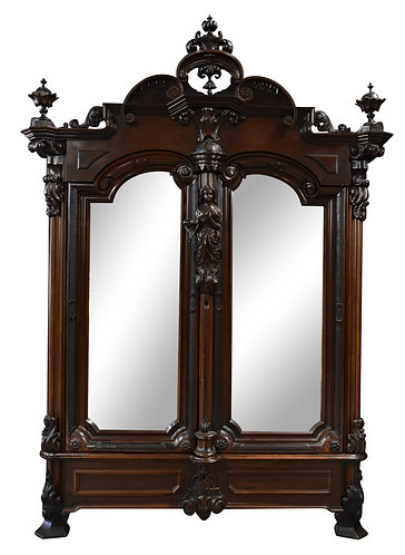 """Monumental Rosewood Armoire 109""""h x 87""""w"""