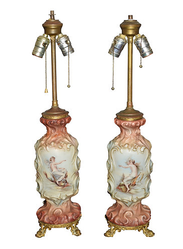Pair of Wave Crest Lamps