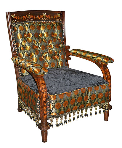 High Quality Marquetry Inlaid Arm Chair