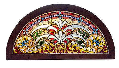 """Stained Glass Window 72""""w s 36""""h"""