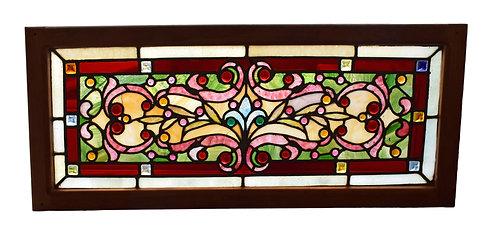 """Stained Glass Window 35""""w x 15""""h"""